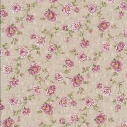 Hør-look med små rosa blomster