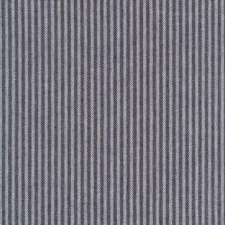 Kraftig bomuld/polyester i stribet sildeben i off-white og mørkeblå