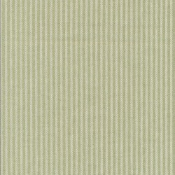 Kraftig bomuld/polyester i stribet sildeben i off-white og lysegrøn