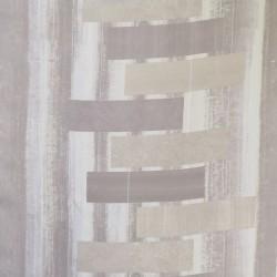 Mørklægnings-stof med firkanter i sand pudderbrun sølv
