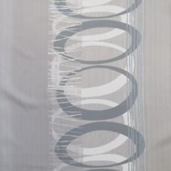 Mørklægnings-stof med oval cirkel i lysegrå grå sølv
