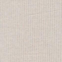 Kraftig bomuld/polyester i stribet sildeben i off-white og lys lysegrå