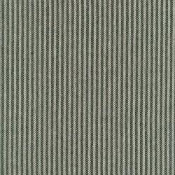 Kraftig bomuld/polyester i stribet sildeben i off-white og armygrøn