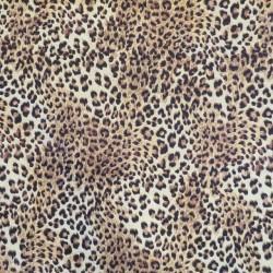 Gobelin i gylden med leopard print