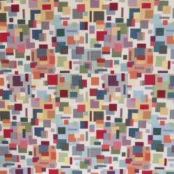 Gobelin sand med multi farvede firkanter