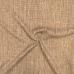 Meleret møbelstof i lysebrun og brun