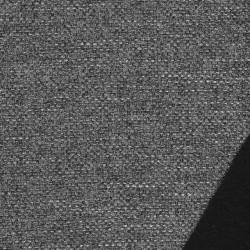 Grovvævet meleret møbelstof i sort, grå og hvid