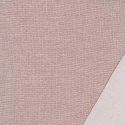 Meleret møbelstof i pudder-rosa og hvid