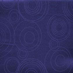 Dug-stof jacquard m/cirkler i mørkeblå