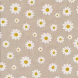 Hør-look med marguerit/daisy