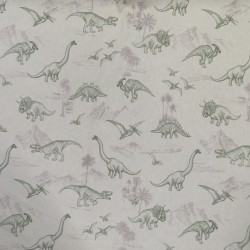 Hør-look med dinosaurus