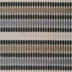 Retro jacquard møbelstof med ovale cirkler i sand, grå, lysegrå