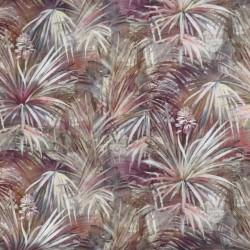 Palmeblade i viskose/hør