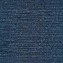 Meleret møbelstof i støvet blå og mørkeblå