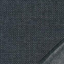 Grovvævet meleret møbelstof i sort, grå og koksgrå
