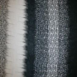 Chiffon m/striber/mønster sort/sand