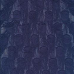 Chiffon med prikker og frynser i støvet mørkeblå