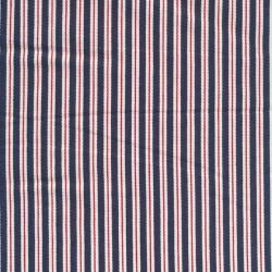 Rest Cowboy med striber i blå hvid rød- 50 cm.
