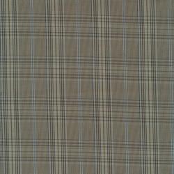 Dunlærred / Poplin ternet i lysebrun beige lyseblå