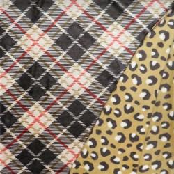 2-sidet Frotté fleece med tern og dyreprint
