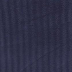 Bredriflet fløjl med stræk i marine