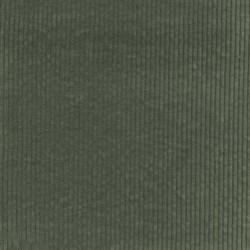 Bredriflet fløjl med stræk i støvet grøn