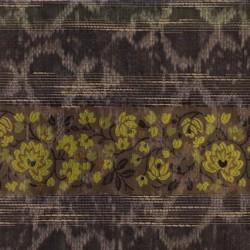 Rest Taft stribet/krakeleret brun/army/lime, 35 cm.