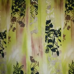 Hør med mønster lime pudderbrun sort og hvid