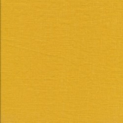 100% vasket ramie-hør i støvet gul