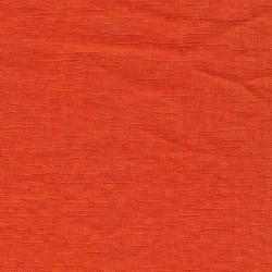 Let 100% vasket hør i støvet orange