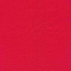 Let viskose/hør i koral-rød