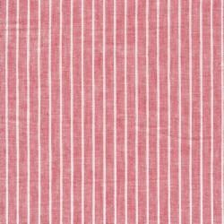 Stribet Hør/Bomuld i rød og hvid