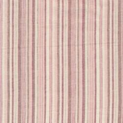 Stribet hør i lyserød hvid vinrød