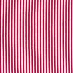 Viskose/Hør stribet i knækket hvid og rød
