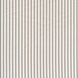 Viskose/Hør stribet i knækket hvid og sand