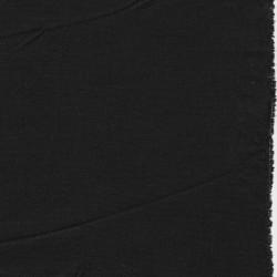 Hør/bomuld/viskose med stræk i sort