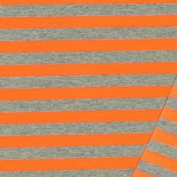 Let Isoli m/striber lysegrå meleret/neon orange