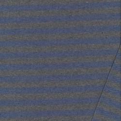 Isoli med striber meleret grå-støvet blå