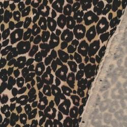 Isoli med dyreprint i beige, sort og brun