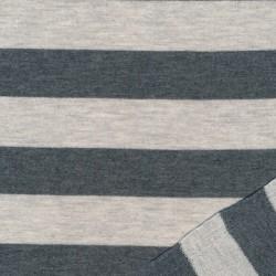 Let isoli - strik stribet i lysegrå og grå meleret