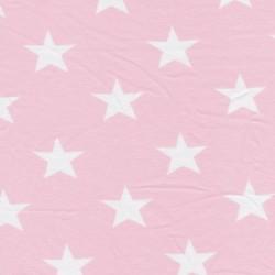 Bomuld/lycra økotex m/stjerner babylyserød/hvid