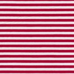 Bomuld/lycra økotex stribet rød/hvid