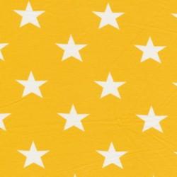 Bomuld/lycra økotex m/stjerner gul/hvid