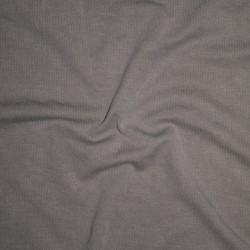 Ribstrikket jersey i modal i lys støvet grå-brun
