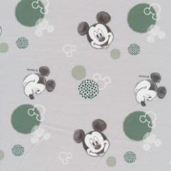 Bomuld/elasthan digitalt tryk i lysegrå med Mickey
