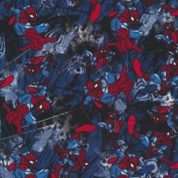 Rest Bomuld/lycra økotex med print med Spider Mann, 40 cm.