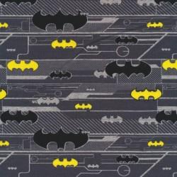 Bomuld/lycra økotex i grå med Batman logo