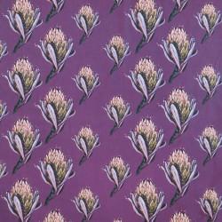 Bomuldsjersey m/digitalt tryk med artiskok blomst i lyng