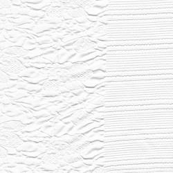 Jacquard jersey i hvid med blomster og elastikkant