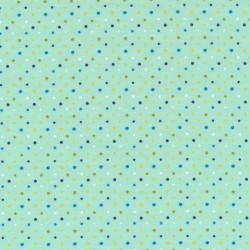Bomuld/lycra økotex i mint med små prikker